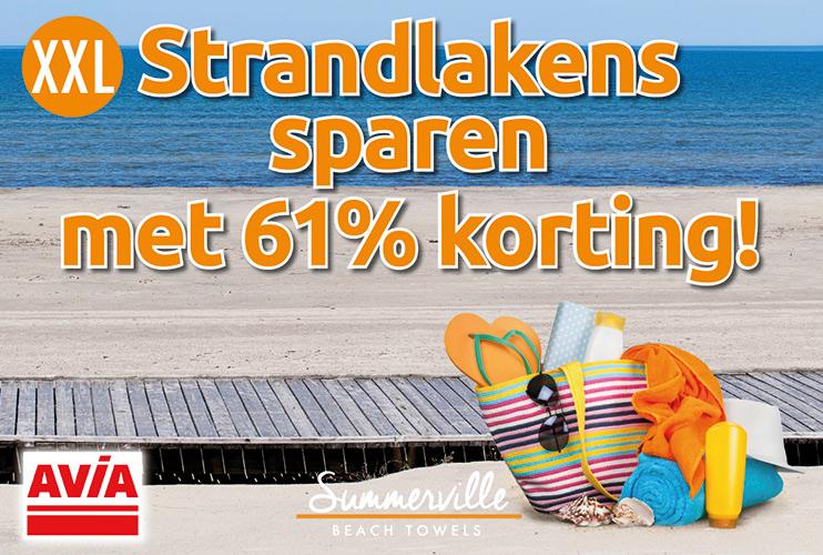 Spaar mee voor strandlaken bij AVIA Westerhaar