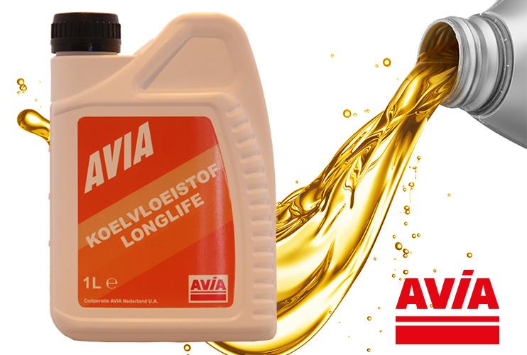 AVIA koelvloeistof long life verkrijgbaar bij Tankservice Haarhuis in Westerhaar