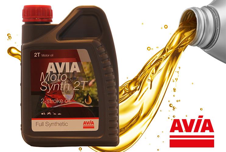 AVIA motosynth tweetakt mengsmering olie, verkrijgbaar bij Tankservice haarhuis in Westerhaar