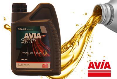 Motorolie AVIA Synth 5w40 bij haarhuis Westerhaar